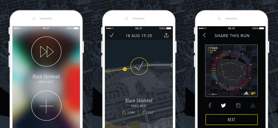 Adidas app uses Spotify to match your music to your running